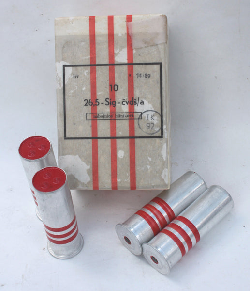26.5 mm Red Rain Flare Rounds<br>3 Round Pack or 10 Round Box