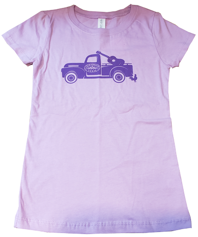 Youth Lavender w/Purple Truck Logo Tee