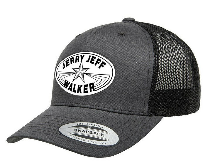JJW NEW! Charcoal/Black Retro Snap Back Trucker Cap