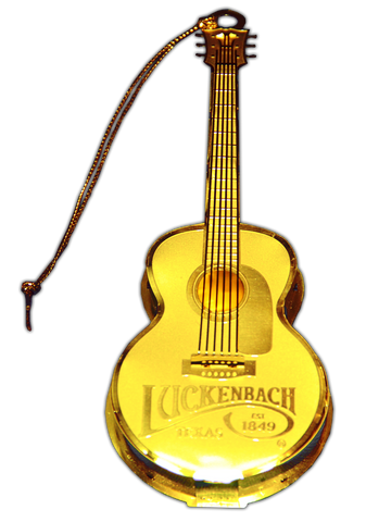 Brass Guitar Ornament