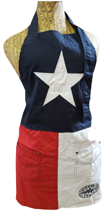 Apron: Texas Flag