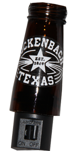 Night Light, Amber Bottle, Luckenbach Label