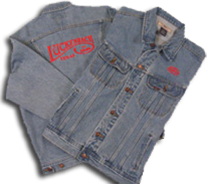 Denim Jacket Red Embroidered
