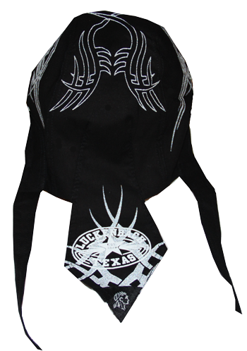 Doo Rag Black Harley Design