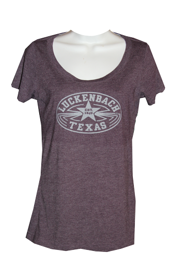 Ladies Vintage Purple Scoop Neck