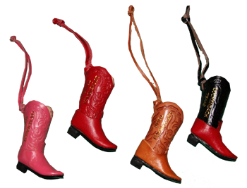 Ornaments: Leather Cowboy Boots