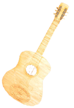 Magnet- Wood Guitar