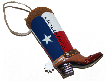 Ornaments: Metal Cowboy Boot