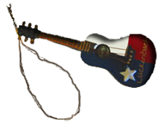Ornament: Red White & Blue Texas Guitar