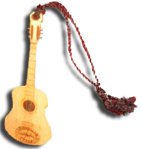Ornament: Wood Guitar