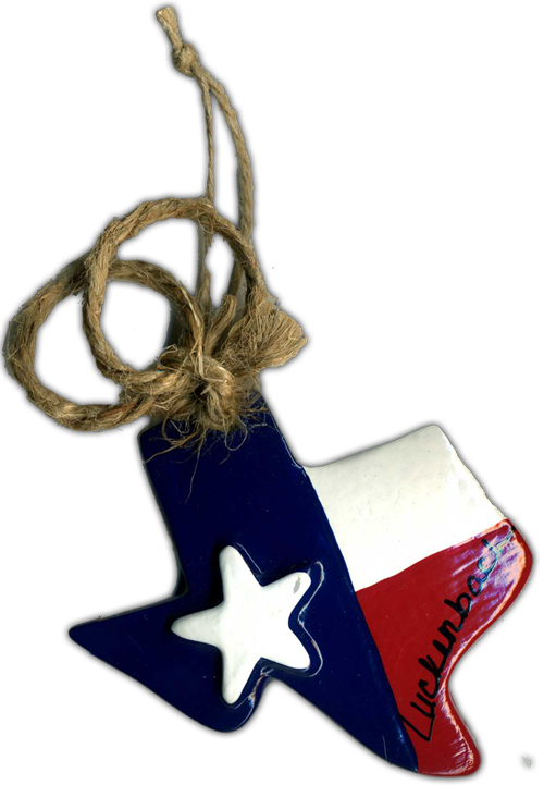 Ornament: Red White & Blue Texas