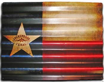Sign- Corrugated Flag
