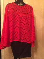 Chevron Red Sassy