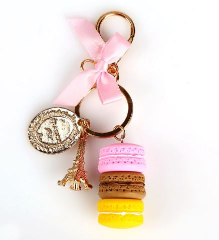 Paris Macaroon Key Chain