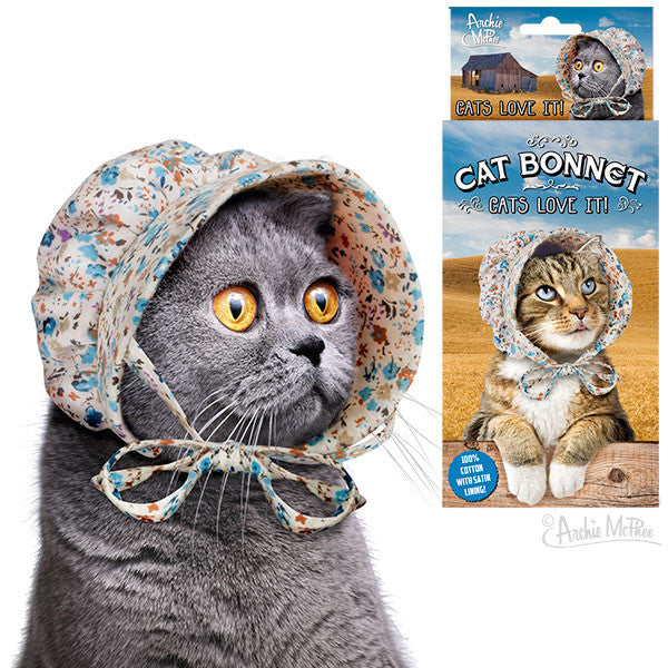 Little House Cat Bonnet - meow meow  - 1