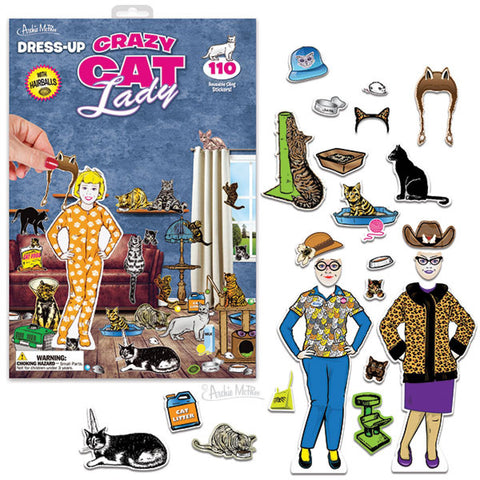 Dress-Up Cat Lady - meow meow  - 1