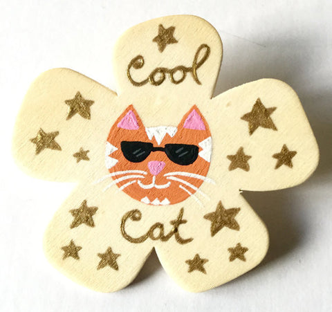 Amelia Custom Cat Pin - meow meow  - 2