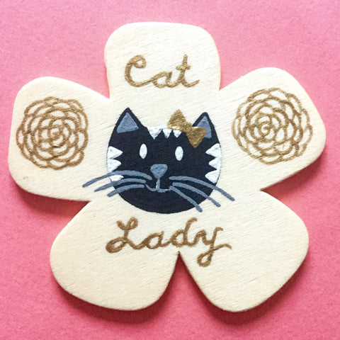 Amelia Custom Cat Pin - meow meow  - 1
