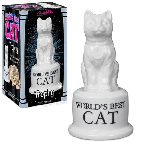 World's Best Cat Trophy - meow meow  - 2