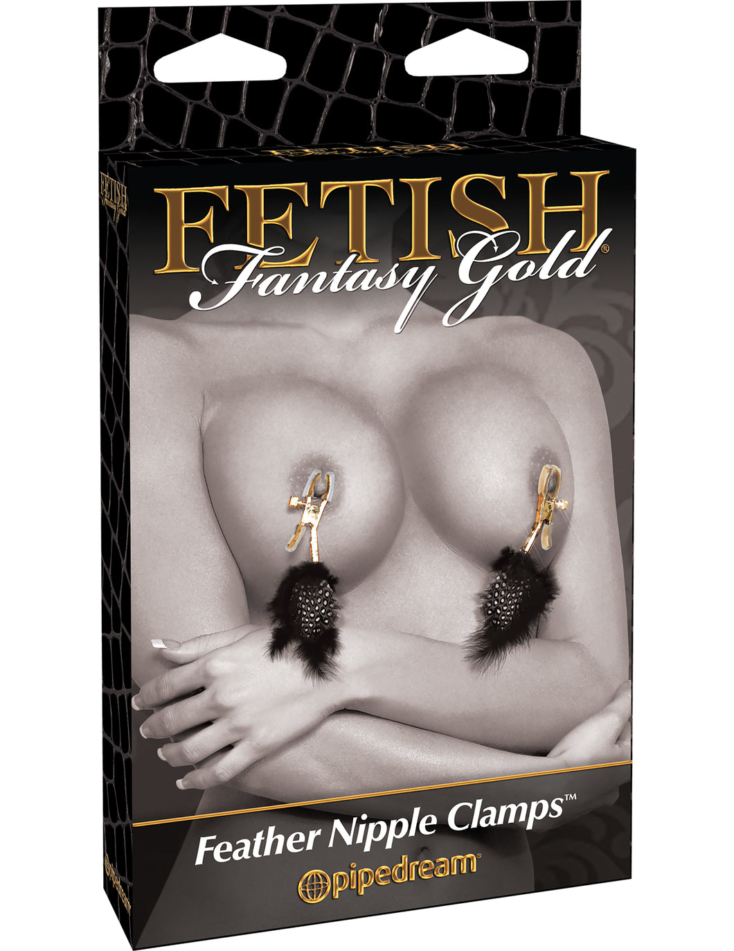 Definitely playful and sexy, the Fetish Fantasy Feather Clamps are made with durable metal clips and covered in soft rubber liners, these clamps are perfect for beginners and fetish enthusiasts alike. The amount of pressure you apply to the nipple is adjustable by turning the screw, while the soft feather streamers tease, tickle and titillate!