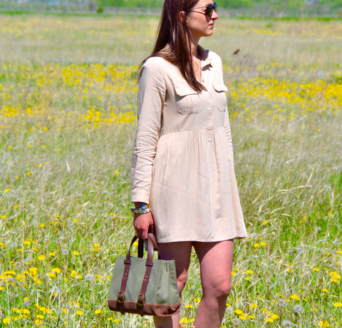 Taupe Shirtdress
