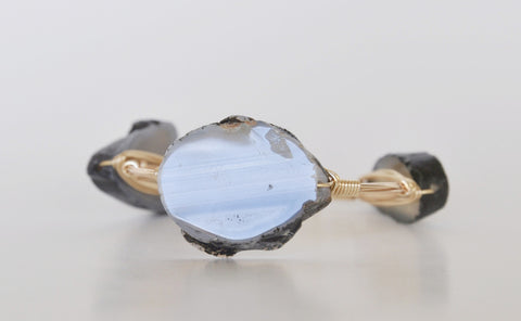 Grey Agate Bracelet - Chace & Co. LLC
