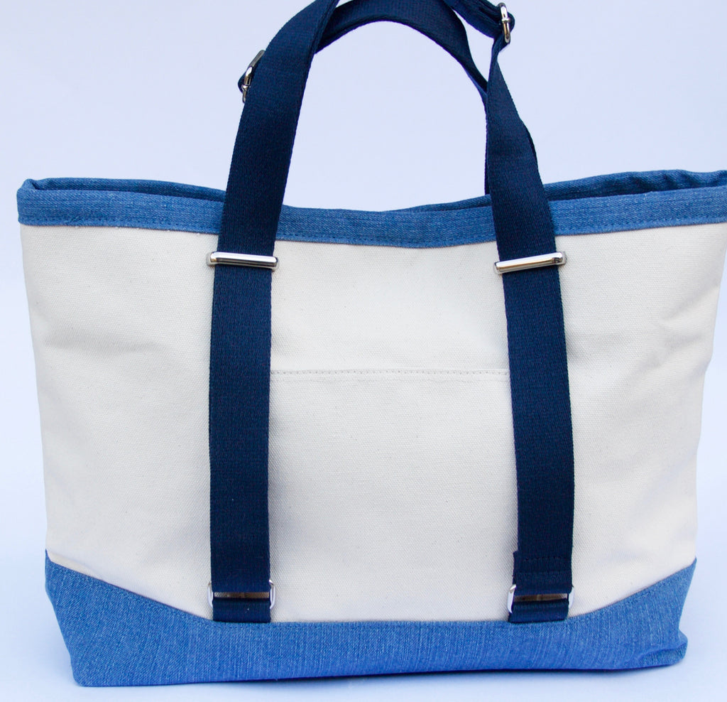 Cotton Canvas Large Tote Bag