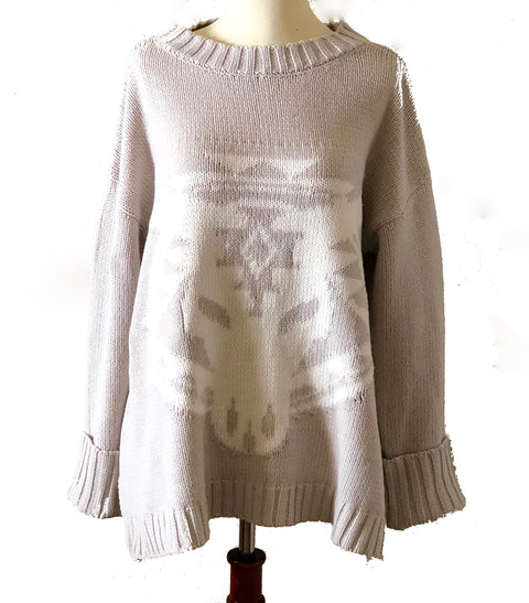 Knit Bull Head Sweater
