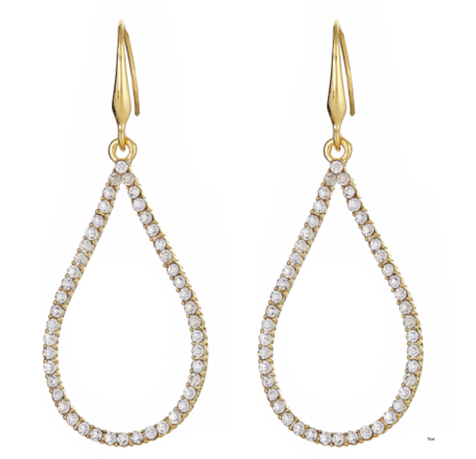 Tear Drop Sparkle Earring