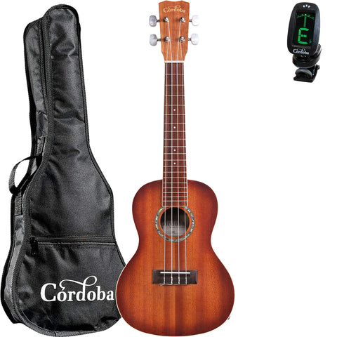 Cordoba 15CM-E Sunburst Concert Acoustic-Electric Ukulele with Cordoba Standard Gig Bag and Tuner Cordoba 15CM-E Sunburst Concert Acoustic-Electric Ukulele with Cordoba Standard Gig Bag and Tuner Ukuleles Cordoba GuitarVault  - GuitarVault.com
