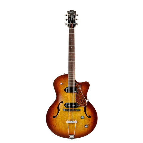 Godin 5th Avenue CW Kingpin II Archtop Hollow Body Electric Guitar With TRIC Case, Cognac Burst Godin 5th Avenue CW Kingpin II Archtop Hollow Body Electric Guitar With TRIC Case, Cognac Burst Hollow Body Electric Guitars Godin guitarVault  - GuitarVault.com