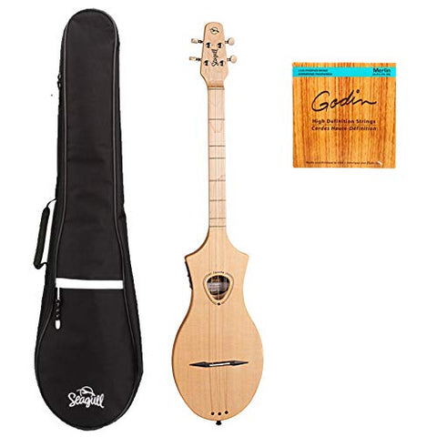 Seagull Merlin M4 Spruce EQ Dulcimer with M-Series Gig Bag and Extra String Set