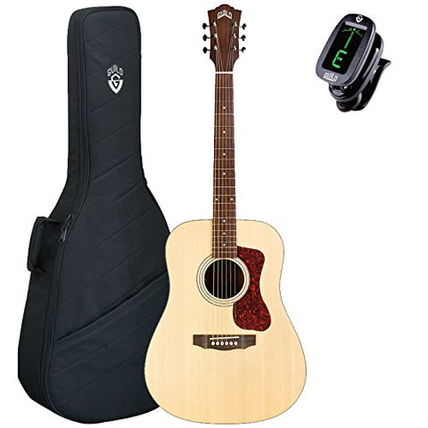 Guild D-240E Acoustic electric Guitar, Natural, with Gig Bag and Tuner Guild D-240E Acoustic electric Guitar, Natural, with Gig Bag and Tuner Acoustic-Electric Guitars Guild GuitarVault  - GuitarVault.com