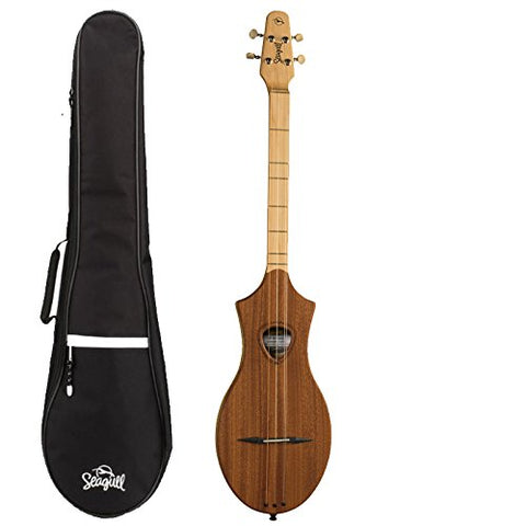 Seagull M4 Merlin Natural Mahogany Dulcimer 039098, with Gig Bag and Polishing Cloth