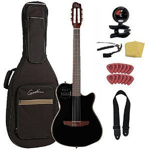 Godin ACS Slim Cedar Black Pearl guitarVault Package With Gig Bag and Accessory Pack (032181) Godin ACS Slim Cedar Black Pearl guitarVault Package With Gig Bag and Accessory Pack (032181) Nylon String Guitars Godin GuitarVault  - GuitarVault.com