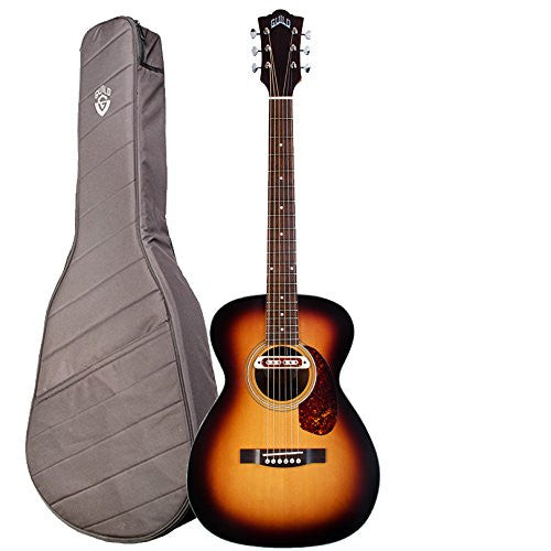 Guild M-240E Troubadour VSB Acoustic-Electric Guitar with Guild Deluxe Padded Gig Bag, Vintage Sunburst Guild M-240E Troubadour VSB Acoustic-Electric Guitar with Guild Deluxe Padded Gig Bag, Vintage Sunburst Acoustic-Electric Guitars Guild GuitarVault  - GuitarVault.com