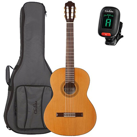 Cordoba C3M Classical Acoustic Guitar with Cordoba Deluxe Gig Bag and Cordoba Clip-On Tuner Cordoba C3M Classical Acoustic Guitar with Cordoba Deluxe Gig Bag and Cordoba Clip-On Tuner Nylon String Guitars Cordoba GuitarVault  - GuitarVault.com