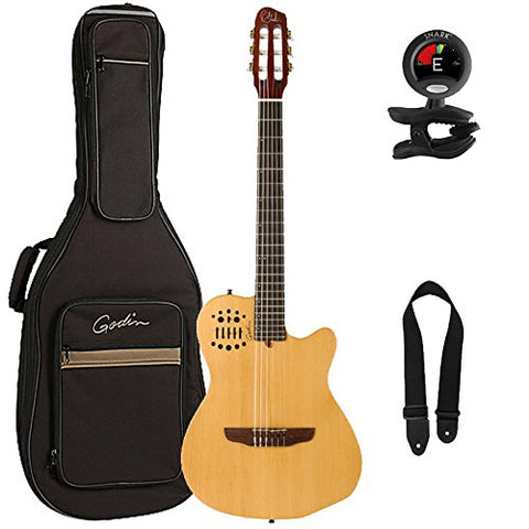 Godin Multiac Series-ACS Slim Cedar Nylon Guitar with Gig Bag, Snark Tuner and Strap Godin Multiac Series-ACS Slim Cedar Nylon Guitar with Gig Bag, Snark Tuner and Strap Musical Instruments Godin GuitarVault  - GuitarVault.com