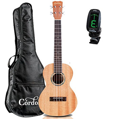 Cordoba 15TM Tenor Acoustic Ukulele GuitarVault Package with Cordoba Gig Bag and Tuner Cordoba 15TM Tenor Acoustic Ukulele GuitarVault Package with Cordoba Gig Bag and Tuner Ukuleles Cordoba GuitarVault  - GuitarVault.com
