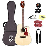 Guild D-150CE Cutaway Acoustic-Electric Guitar with Case and GuitarVault Accessory Pack, Natural Guild D-150CE Cutaway Acoustic-Electric Guitar with Case and GuitarVault Accessory Pack, Natural Acoustic-Electric Guitars Guild GuitarVault  - GuitarVault.com
