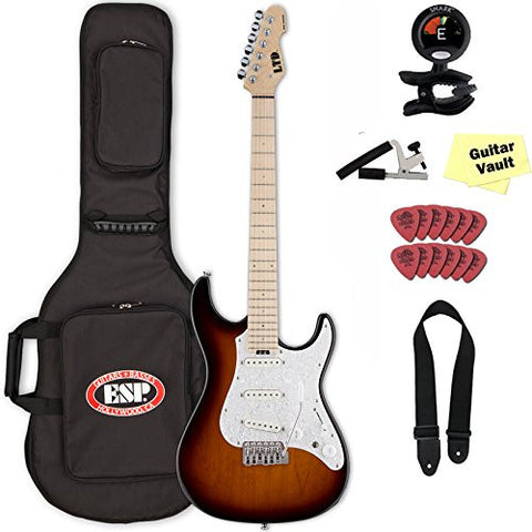 ESP LTD SN-1000W Maple TSB Tobacco Sunburst Fluence Electric W/ Gig Bag and Accessory Kit ESP LTD SN-1000W Maple TSB Tobacco Sunburst Fluence Electric W/ Gig Bag and Accessory Kit Solid Body Electric Guitars ESP GuitarVault  - GuitarVault.com