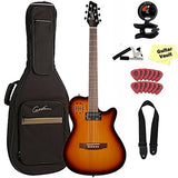 Godin A6 Ultra Electro-Acoustic Chambered Guitar with Gig Bag, Cognac Burst Godin A6 Ultra Electro-Acoustic Chambered Guitar with Gig Bag, Cognac Burst Acoustic-Electric Guitars Godin GuitarVault  - GuitarVault.com