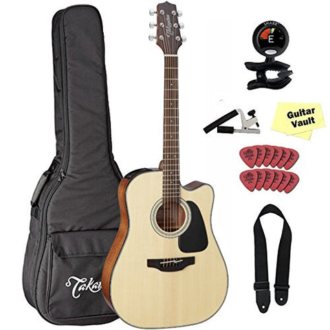 Takamine GD30CE-NAT Dreadnought Cutaway Acoustic-Electric Guitar With Takamine Gig Bag and Snark Tuner Takamine GD30CE-NAT Dreadnought Cutaway Acoustic-Electric Guitar With Takamine Gig Bag and Snark Tuner Acoustic-Electric Guitars Takamine GuitarVault  - GuitarVault.com