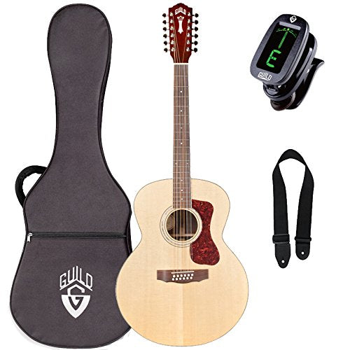 Guild F-1512E 12-String Jumbo Acoustic-Electric Guitar with Case, Tuner, and Strap Guild F-1512E 12-String Jumbo Acoustic-Electric Guitar with Case, Tuner, and Strap Acoustic-Electric Guitars Guild GuitarVault  - GuitarVault.com