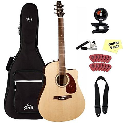Seagull Coastline S6 Slim CW Spruce QIT Guitar Bundle with Gig Bag and Free Accessory Pack Seagull Coastline S6 Slim CW Spruce QIT Guitar Bundle with Gig Bag and Free Accessory Pack Acoustic-Electric Guitars Seagull guitarVault  - GuitarVault.com