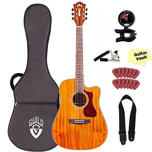 Guild D-120CE Acoustic-Electric Guitar with Case and GuitarVault Accessory Kit, Natural Guild D-120CE Acoustic-Electric Guitar with Case and GuitarVault Accessory Kit, Natural Acoustic-Electric Guitars Guild GuitarVault  - GuitarVault.com