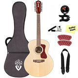 Guild F-1512 Westerly Collection 12-String Acoustic Guitar with Polyfoam Hard Case and Accessory Pack Guild F-1512 Westerly Collection 12-String Acoustic Guitar with Polyfoam Hard Case and Accessory Pack Acoustic Guitars Guild GuitarVault  - GuitarVault.com