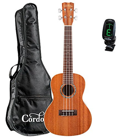 Cordoba 15CM Concert Ukulele guitarVault Bundle With Cordoba Gig Bag and Tuner Cordoba 15CM Concert Ukulele guitarVault Bundle With Cordoba Gig Bag and Tuner Ukuleles Cordoba guitarVault  - GuitarVault.com