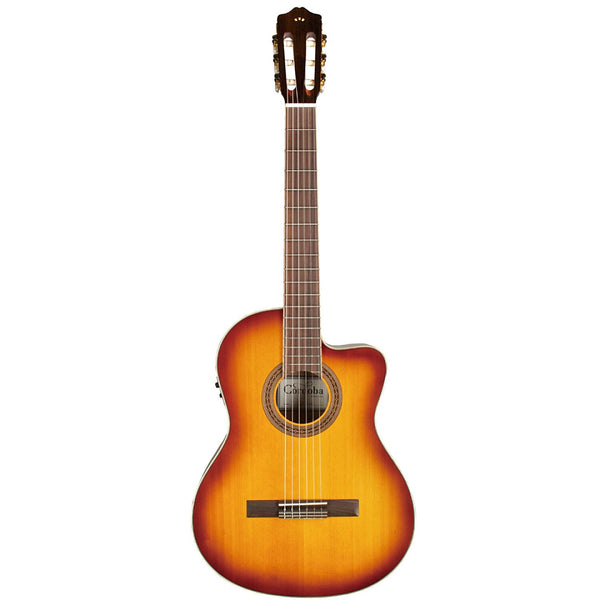 Cordoba C5-CE Sunburst Classical Cutaway Acoustic-Electric Guitar Cordoba C5-CE Sunburst Classical Cutaway Acoustic-Electric Guitar Nylon String Guitars Cordoba guitarVault  - GuitarVault.com