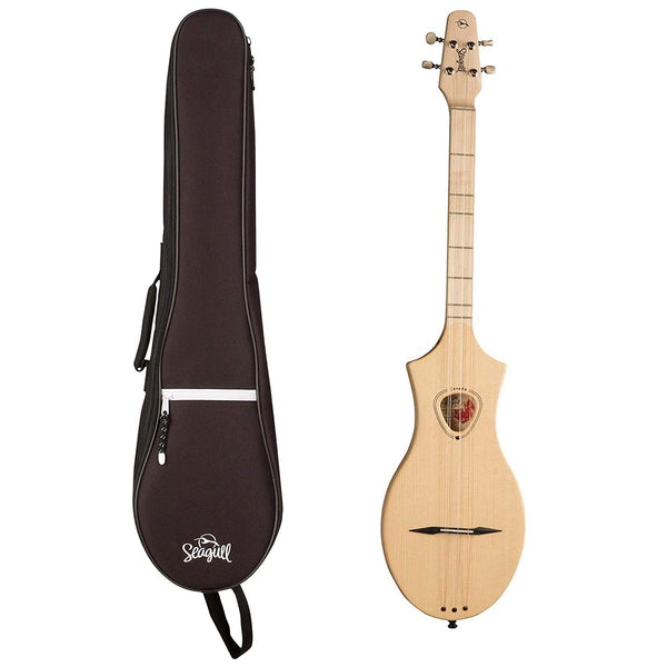 Seagull M4 Merlin Natural Spruce with Seagull M4 Gig Bag (Left-Handed)